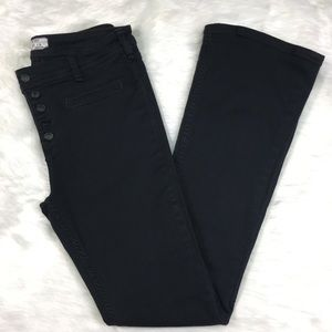 Free People Button-Front Bootcut Jeans size 29